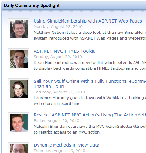 Asp.net Homepage