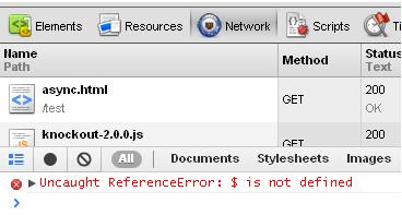 HTML5 Async Error