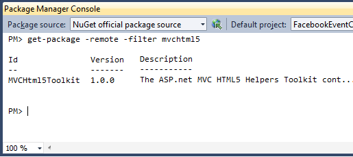 ASP NET MVC HTML5 Toolkit is now available as a Nuget Package
