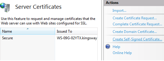 Set up IIS 7 to run a secure site locally - HTTPS