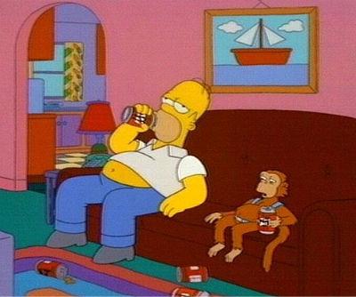 Homer & Monkey