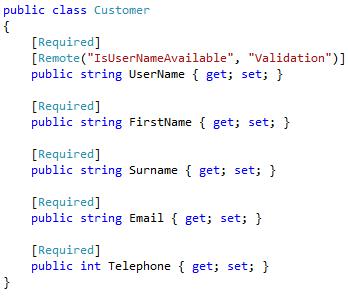 ASP.NET MVC Model