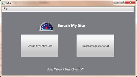 SmushMySite - Main Menu - Smush.it™